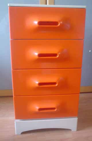 space70 meuble abs orange. Black Bedroom Furniture Sets. Home Design Ideas